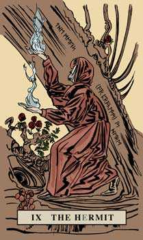 The Hermit Tarot Card - English Magic Tarot Deck