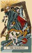 The Magician Tarot card in English Magic Tarot deck