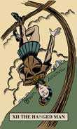 The Hanged Man Tarot card in English Magic Tarot deck