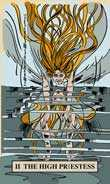 The High Priestess Tarot card in English Magic Tarot deck