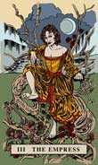 The Empress Tarot card in English Magic Tarot deck