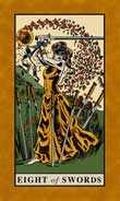 Eight of Swords Tarot card in English Magic Tarot deck