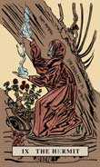 The Hermit Tarot card in English Magic Tarot deck