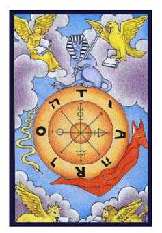 Wheel of Fortune Tarot Card - Epicurean Tarot Recipe Cards Tarot Deck