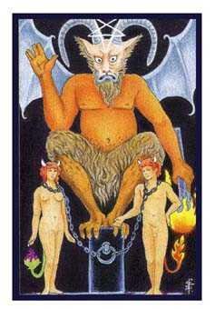 The Devil Tarot Card - Epicurean Tarot Recipe Cards Tarot Deck