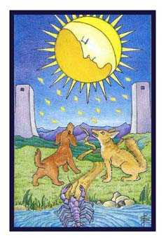 The Moon Tarot Card - Epicurean Tarot Recipe Cards Tarot Deck