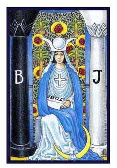 The High Priestess Tarot Card - Epicurean Tarot Recipe Cards Tarot Deck