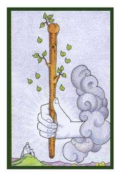 Ace of Batons Tarot Card - Epicurean Tarot Recipe Cards Tarot Deck