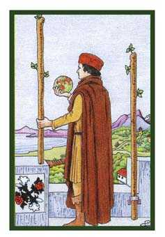 Two of Staves Tarot Card - Epicurean Tarot Recipe Cards Tarot Deck
