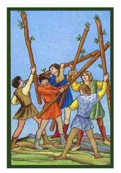 Five of Batons Tarot Card - Epicurean Tarot Recipe Cards Tarot Deck