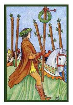 Six of Batons Tarot Card - Epicurean Tarot Recipe Cards Tarot Deck