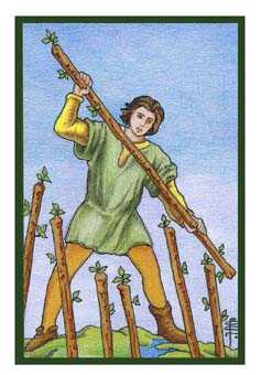 Seven of Rods Tarot Card - Epicurean Tarot Recipe Cards Tarot Deck
