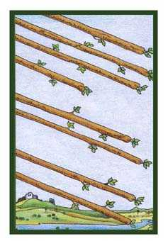Eight of Pipes Tarot Card - Epicurean Tarot Recipe Cards Tarot Deck