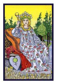 The Empress Tarot Card - Epicurean Tarot Recipe Cards Tarot Deck
