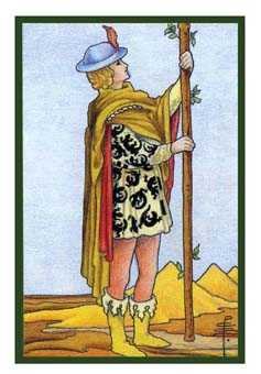 Page of Staves Tarot Card - Epicurean Tarot Recipe Cards Tarot Deck