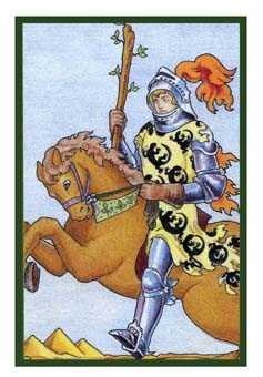 Knight of Lightening Tarot Card - Epicurean Tarot Recipe Cards Tarot Deck