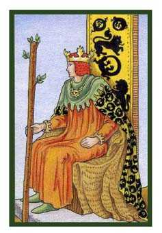King of Staves Tarot Card - Epicurean Tarot Recipe Cards Tarot Deck