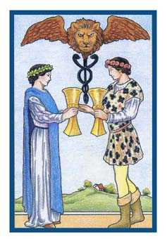 Two of Hearts Tarot Card - Epicurean Tarot Recipe Cards Tarot Deck
