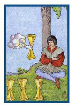 Four of Cups Tarot Card - Epicurean Tarot Recipe Cards Tarot Deck