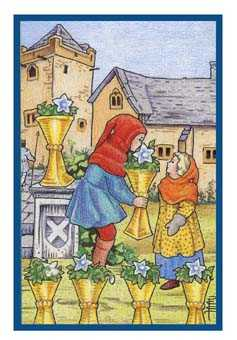 Six of Cups Tarot Card - Epicurean Tarot Recipe Cards Tarot Deck