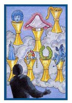 Seven of Cups Tarot Card - Epicurean Tarot Recipe Cards Tarot Deck