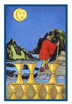 Eight of Water Tarot Card - Epicurean Tarot Recipe Cards Tarot Deck