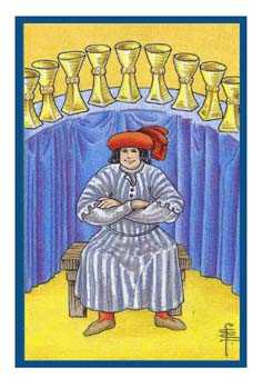 Nine of Cups Tarot Card - Epicurean Tarot Recipe Cards Tarot Deck
