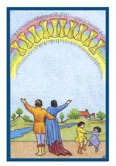 Ten of Cups Tarot Card - Epicurean Tarot Recipe Cards Tarot Deck
