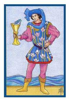 Page of Water Tarot Card - Epicurean Tarot Recipe Cards Tarot Deck