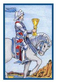 Knight of Cups Tarot Card - Epicurean Tarot Recipe Cards Tarot Deck
