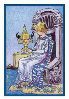 Queen of Bowls Tarot Card - Epicurean Tarot Recipe Cards Tarot Deck