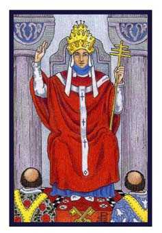 The High Priest Tarot Card - Epicurean Tarot Recipe Cards Tarot Deck