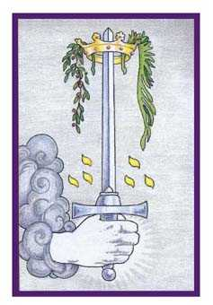 Ace of Swords Tarot Card - Epicurean Tarot Recipe Cards Tarot Deck