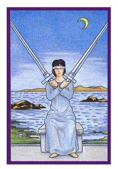 Two of Swords Tarot Card - Epicurean Tarot Recipe Cards Tarot Deck