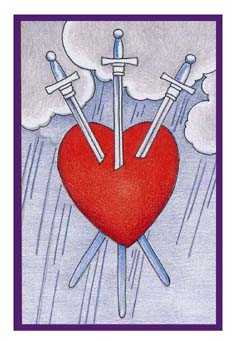 Three of Swords Tarot Card - Epicurean Tarot Recipe Cards Tarot Deck