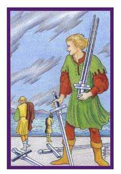 Five of Swords Tarot Card - Epicurean Tarot Recipe Cards Tarot Deck