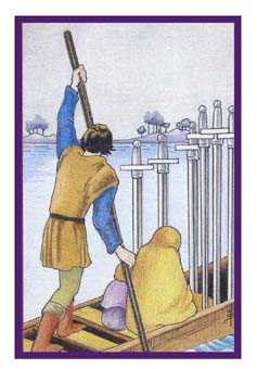 Six of Swords Tarot Card - Epicurean Tarot Recipe Cards Tarot Deck