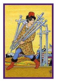 Seven of Bats Tarot Card - Epicurean Tarot Recipe Cards Tarot Deck