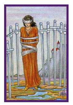 Eight of Swords Tarot Card - Epicurean Tarot Recipe Cards Tarot Deck