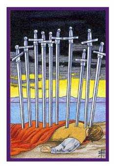 Ten of Bats Tarot Card - Epicurean Tarot Recipe Cards Tarot Deck