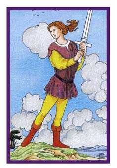 Page of Swords Tarot Card - Epicurean Tarot Recipe Cards Tarot Deck