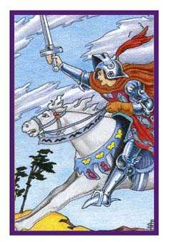 Cavalier of Swords Tarot Card - Epicurean Tarot Recipe Cards Tarot Deck