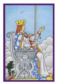 Queen of Swords Tarot Card - Epicurean Tarot Recipe Cards Tarot Deck
