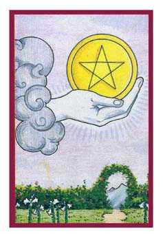 Ace of Pentacles Tarot Card - Epicurean Tarot Recipe Cards Tarot Deck