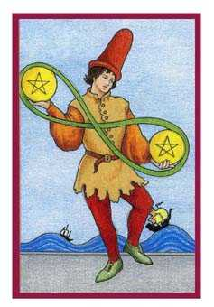 Two of Pentacles Tarot Card - Epicurean Tarot Recipe Cards Tarot Deck