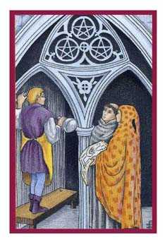 Three of Pentacles Tarot Card - Epicurean Tarot Recipe Cards Tarot Deck