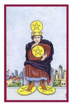 Four of Discs Tarot Card - Epicurean Tarot Recipe Cards Tarot Deck