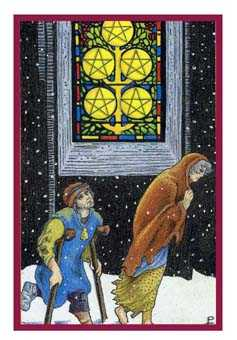 Five of Pentacles Tarot Card - Epicurean Tarot Recipe Cards Tarot Deck