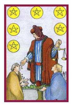 Six of Pentacles Tarot Card - Epicurean Tarot Recipe Cards Tarot Deck