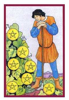 Seven of Pentacles Tarot Card - Epicurean Tarot Recipe Cards Tarot Deck